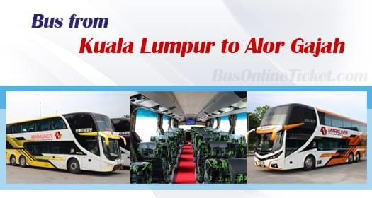 Bus from Kuala Lumpur to Alor Gajah