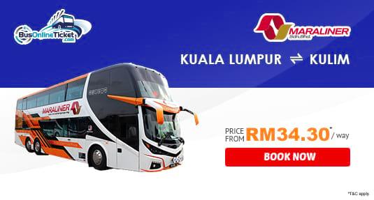 Maraliner Express Bus Service Between Kuala Lumpur and Kulim