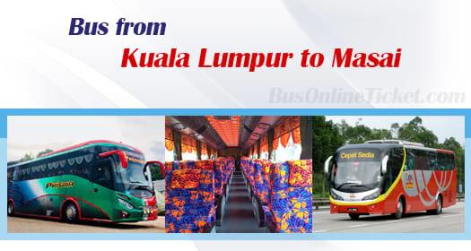 Bus from Kuala Lumpur to Masai