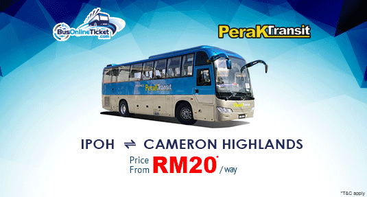 Perak Transit Offers Bus Between Ipoh and Cameron Highlands.