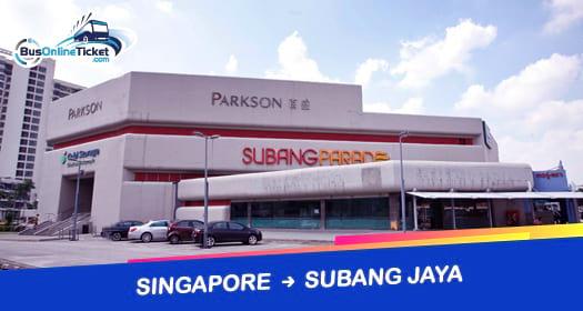 Bus from Singapore to Subang Jaya