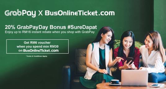 BusOnlineTicket x GrabPay - 26 May - 7 June 2019