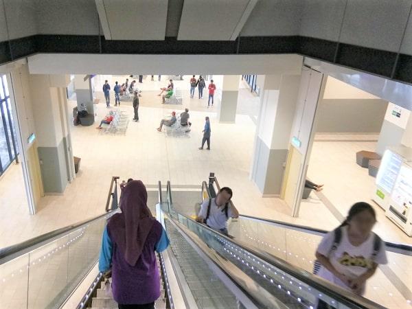Escalator to Public Bus Platform