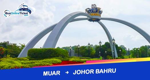 Bus from Muar to Johor Bahru