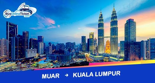 Bus from Muar to Kuala Lumpur