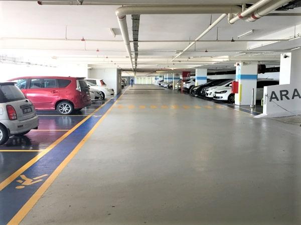 Parking Area in Penang Sentral