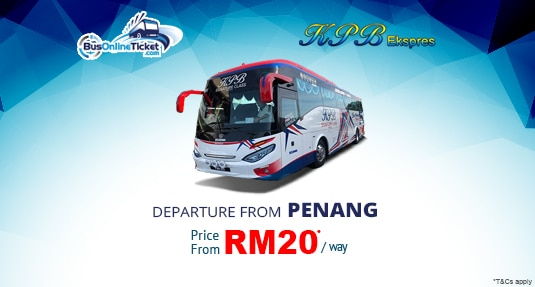 KPB Express Bus from Penang to KL, Ipoh, Malacca & More