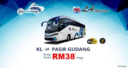 LA Holidays Offers Bus Service Between Kuala Lumpur and Pasir Gudang