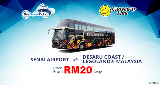 Causeway Link Express from Senai Airport to Desaru Coast & LEGOLAND Malaysia