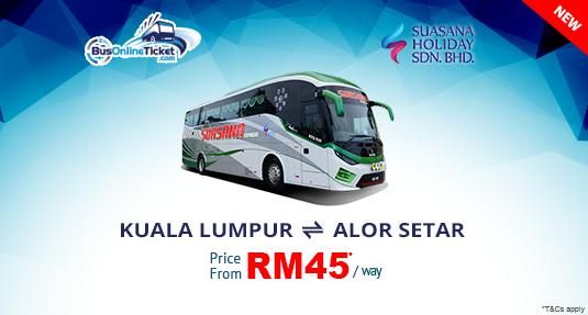 Suasana Holiday Bus from Kuala Lumpur TBS to Alor Setar