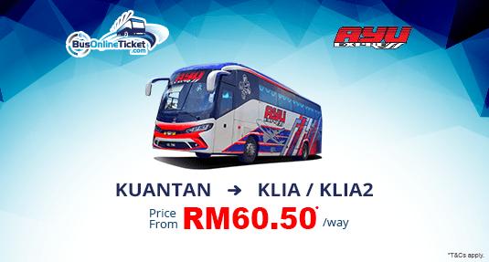 Ayu Express Bus Terengganu & Kuantan Bus to KLIA/KLIA2