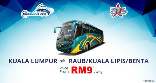 Bus from KL to Raub, Benta & Kuala Lipis with Pahang Lin Siong