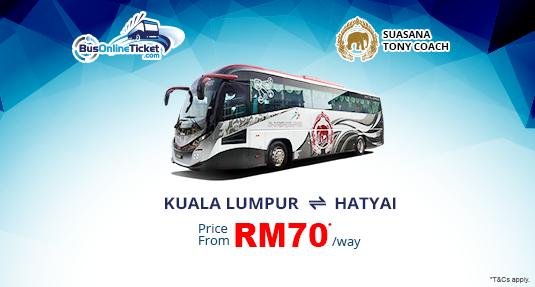 Suasana Tony Coach Bus from KL to Hatyai
